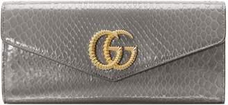 Gucci Broadway Genuine Snakeskin Evening Clutch