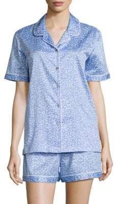 Natori Leopard Print Short Pajama Set