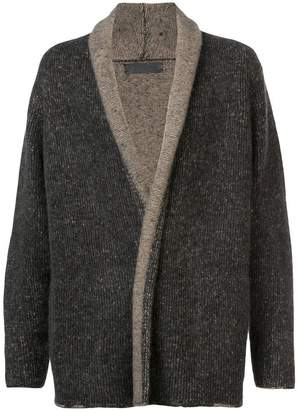 The Elder Statesman contrast hem cardigan