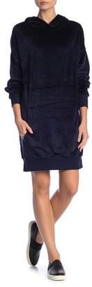 Solutions Hooded Velvet Dress
