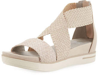 Eileen Fisher Sport Woven Platform Sandals