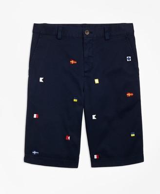 Brooks Brothers Boys Cotton Nautical Shorts