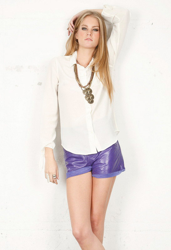 Harper Blouse in Nature White - by Equipment