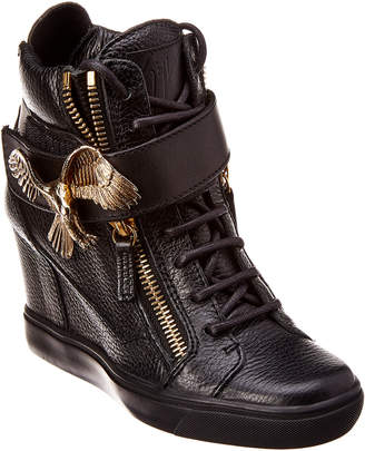 Giuseppe Zanotti Leather Wedge Sneaker