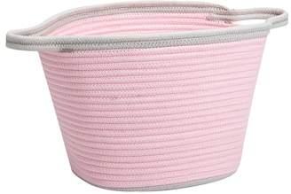 Pottery Barn Kids Pink Cotton Rope Basket, Small