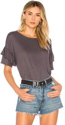 the hour Ruffle Sleeve T-Shirt
