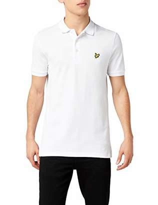 Lyle & Scott Men's Plain Polo Shirt, (White)