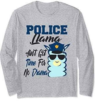 Cop Police Officer Law Enforcer Llama No Drama T-shirt Gift