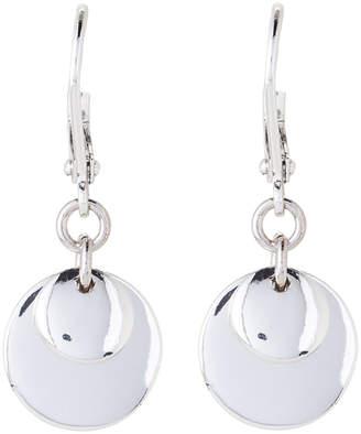 Lauren Ralph Lauren Silver-Tone Double Disc Drop Earrings