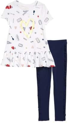 Kate Spade Doodle Print Tunic & Leggings Set