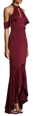 Shoshanna Ruffle Hi-Lo Gown