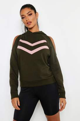 boohoo Cold Shoulder Sweat Top