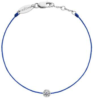 Redline Pure String Diamond Blue Bracelet - White Gold