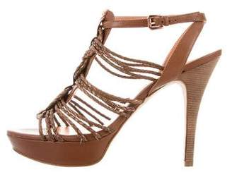 Belle by Sigerson Morrison Metallic Multistrap Sandals