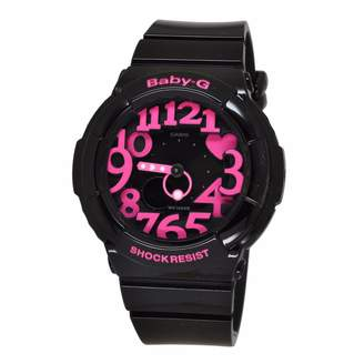 Casio Hand/Wrist Watch Shop Baby G Neon Illuminator - BGA-130-1B, Woman, Ladies, Girls, Model:BGA130-1B, Wristwatch, Wrist Watch