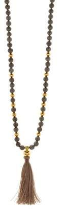 Gorjana Hannah Drusy Tassel Long Necklace