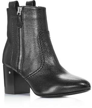 Laurence Dacade Women's Silane Pointed Toe Leather Mid-Heel Booties