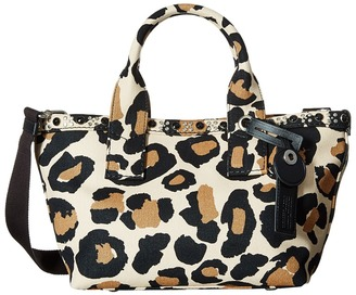 Marc by Marc Jacobs Leopard Embellished Canvas Small Tote $328 thestylecure.com