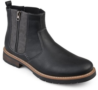 Territory Men's Lace-Up Faux Leather Casual Chelsea Boots