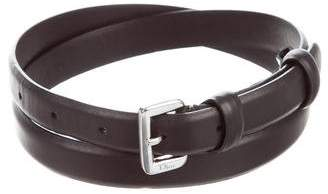 Christian Dior Skinny Leather Belt