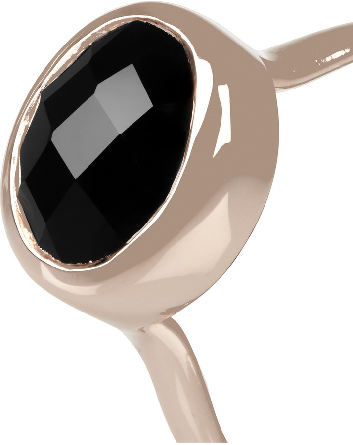 Monica Vinader Candy rose gold-plated onyx ring