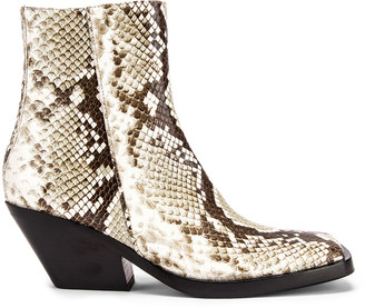 Acne Studios Braxton Snake Boots in Off White | FWRD