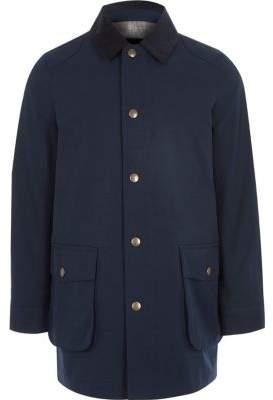 River Island Boys navy cord collar jacket