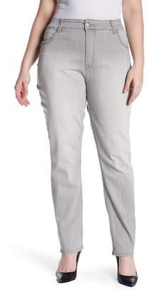 Melissa McCarthy Skinny Triple Needle Jeans (Plus Size)