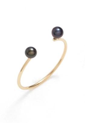 Women's Poppy Finch Skinny Pearl Open Ring $150 thestylecure.com