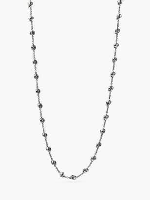 John Varvatos Silver Skull Necklace