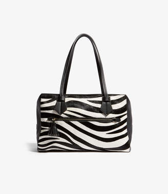 09a12a55ba Karen Millen Textured Zebra Shoulder Bag