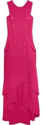 Antonio Berardi Double-Breasted Asymmetric Stretch-Cady Midi Dress