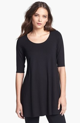 Women's Eileen Fisher Scoop Neck Jersey Tunic $138 thestylecure.com
