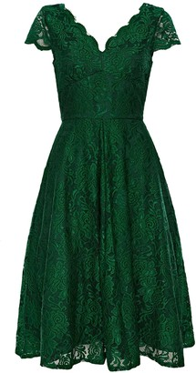 ca7f8b2c46db6 WallisWallis **Jolie Moi Green Cap Sleeve Dress