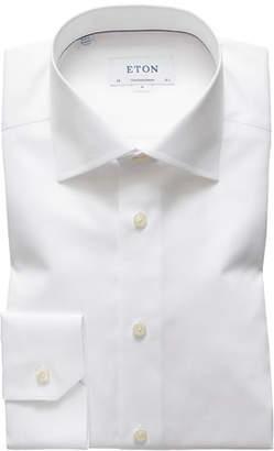 Eton Men's Contemporary-Fit Cotton/Linen Dress Shirt, White