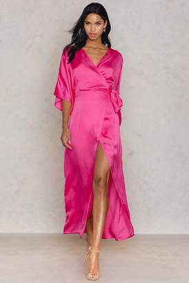 Hannalicious X Na Kd Kimono Mid Sleeve Maxi Dress