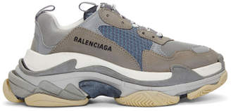 Balenciaga Grey Triple S Sneakers