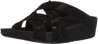5929116bf100 FitFlop Women s Slinky Rokkit Criss-Cross Slide Sandal
