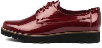 Django & Juliette Padan Red Shoes Womens Shoes Casual Heeled Shoes