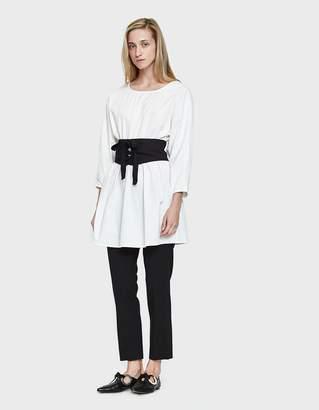 Stelen Tunic Dress in White/ Black