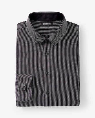 Express Extra Slim Fit Striped Performance Dress Shirt