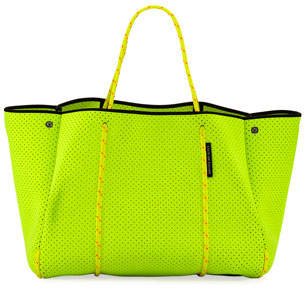 State of Escape Escape Perforated Neoprene Tote Bag, Bright Yellow