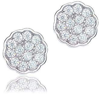 Co ORROUS & Legacy Collection 18K Gold Plated Cubic Zirconia Flower Stud Earrings