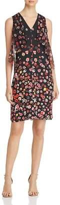 Elie Tahari Jezeble Ruffled Floral Print Silk Dress