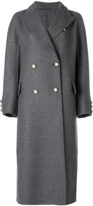 Ermanno Scervino faux pearl double breasted coat