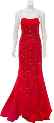 Mac Duggal Embellished High-Low Gown