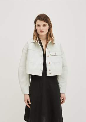 Acne Studios Kremi Cotton Short Jacket Pale Aqua