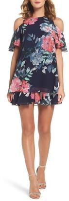 Eliza J Tiered Chiffon Shift Dress