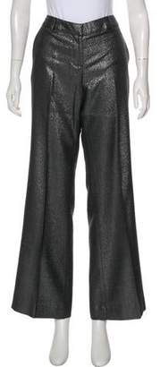 Tory Burch Metallic Wide Leg Pants