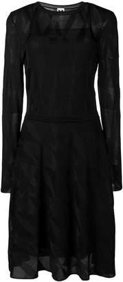 M Missoni sheer panels dress